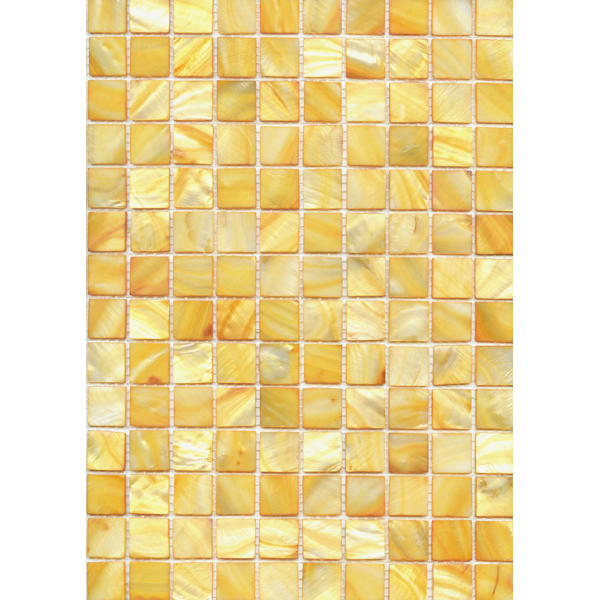"Yellow River Shell Mosaic Sheet, 20mm-3/4"", 1 tile"