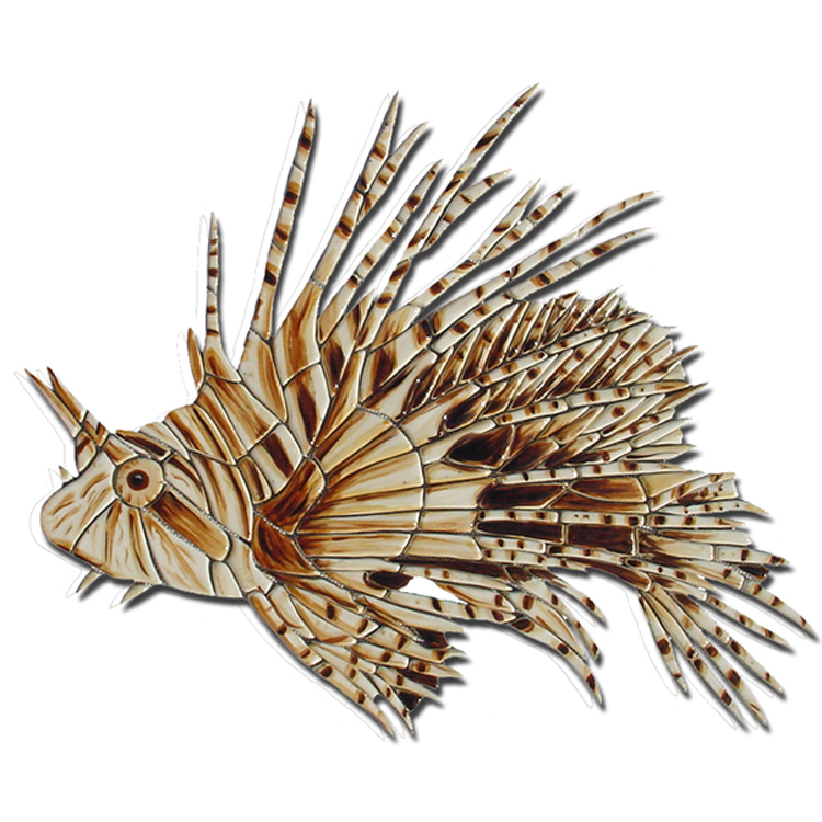 Lion Fish, Custom Ceramic Mosaic