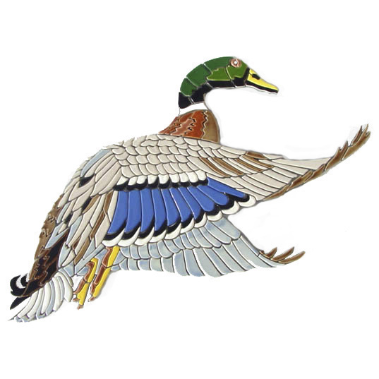 "Mallard Duck, Custom Ceramic Mosaic, 18"" x 23"""