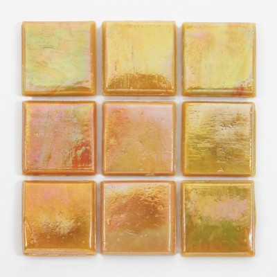 "Mango Kolorines Metalica Glass Mosaic Tile, 3/4"" x 3/4"" - 20mm, 1 square foot"