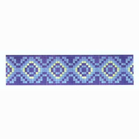 "Agape Tile - Marroqui 10 Glass Mosaic Waterline Or Border 11"" High"