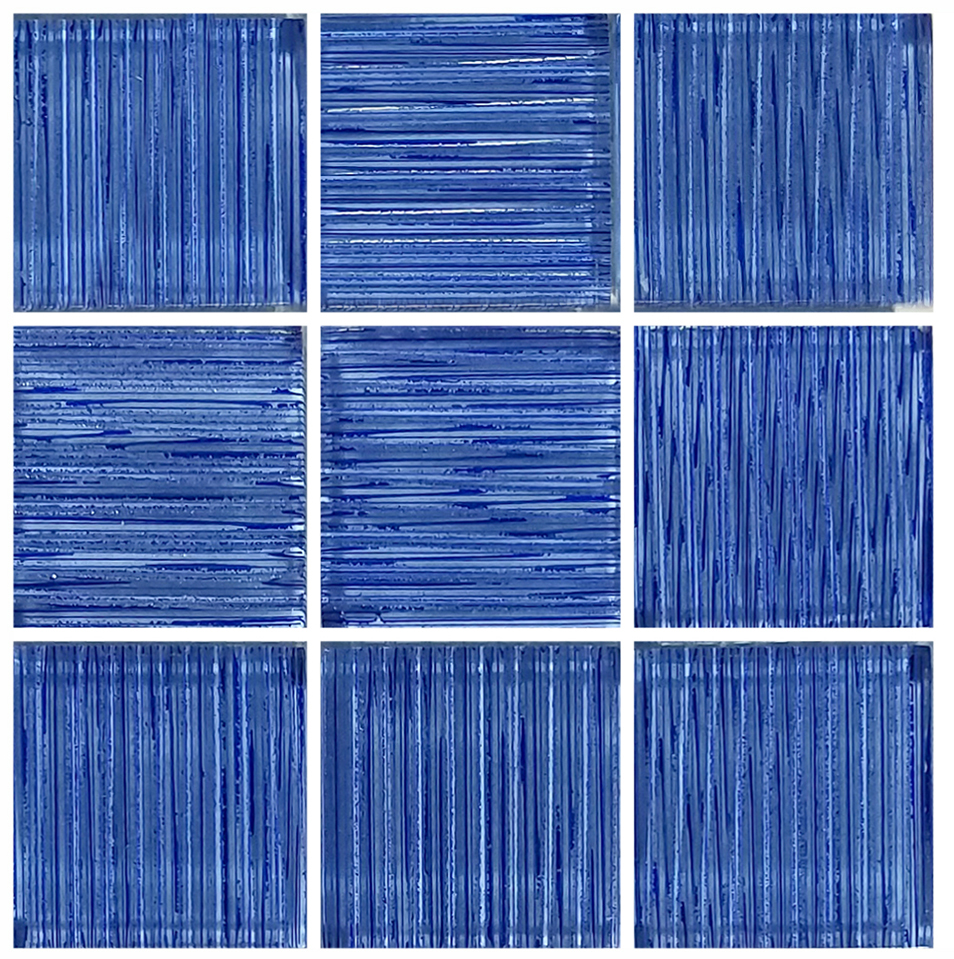 "AIM Mirage Dark Blue Glass Mosaic Tile, 2"" x 2"", 1 sheet"