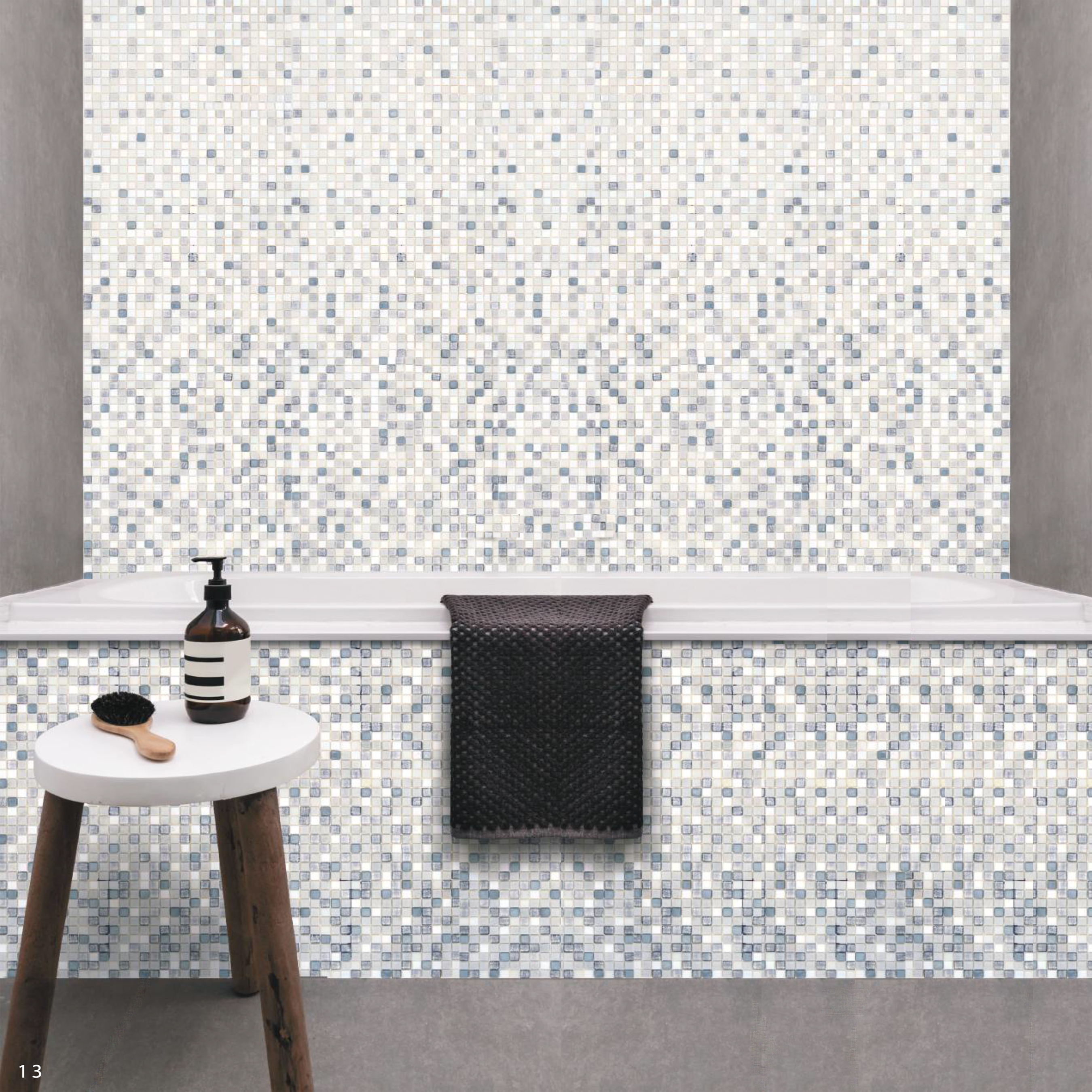 Mosai and Co Gradient Glass Mosaic Tile