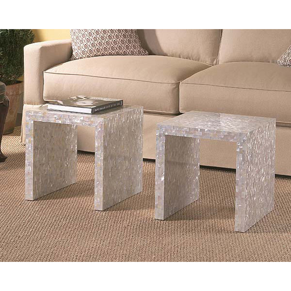 Mother of Pearl Nested Table Set