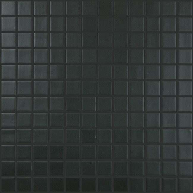 "Black Matt #903 Vidrepur Nordic Glass Mosaic Tile, 1x1"", 1 sheet"