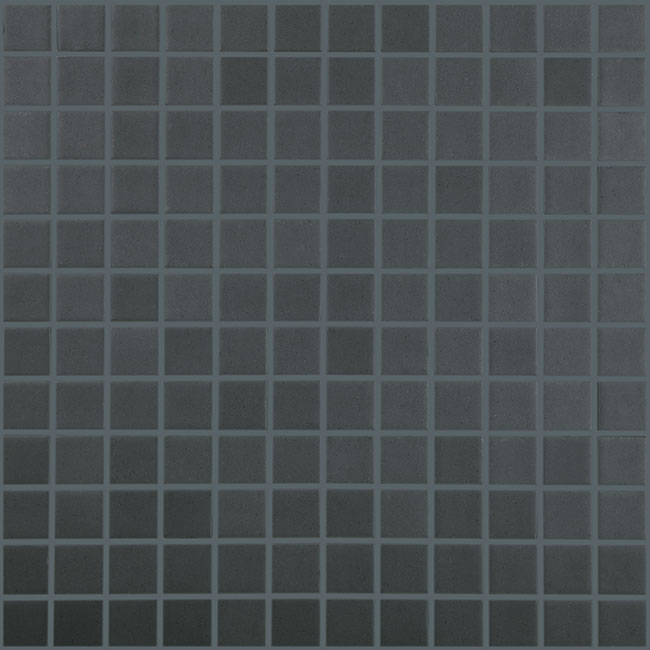 "Dark Grey Matt #908 Vidrepur Nordic Glass Mosaic Tile, 1x1"", 1 sheet"