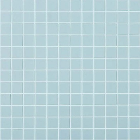 "Light Blue Matt #925 Vidrepur Nordic Glass Mosaic Tile, 1x1"", 1 sheet"