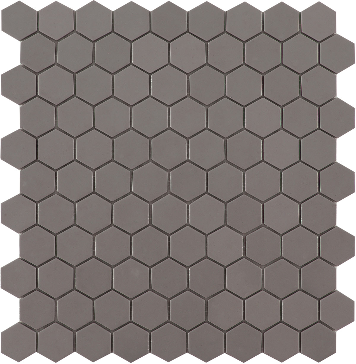 Frappe Matt #926 Flat Hex Vidrepur Nordic Glass Mosaic Tile, 35mm, 1 sheet