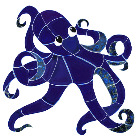Ceramic Mosaic Octopus Pool Murals