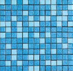 "Pacifico Standard Blend Kolorines Glass Mosaic Tile, 2"" x 2"" - 50mm, 1 sheet"
