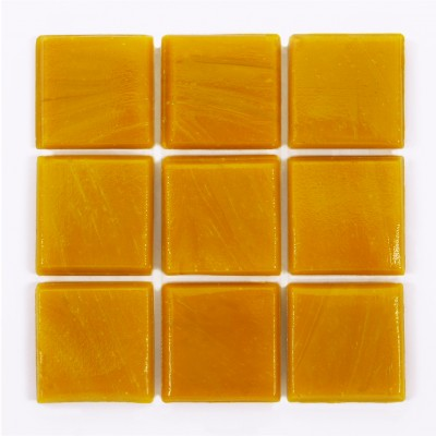 "Peach Kolorines Solar Glass Mosaic Tile, 3/4"" x 3/4"" - 20mm, 1 sheet"