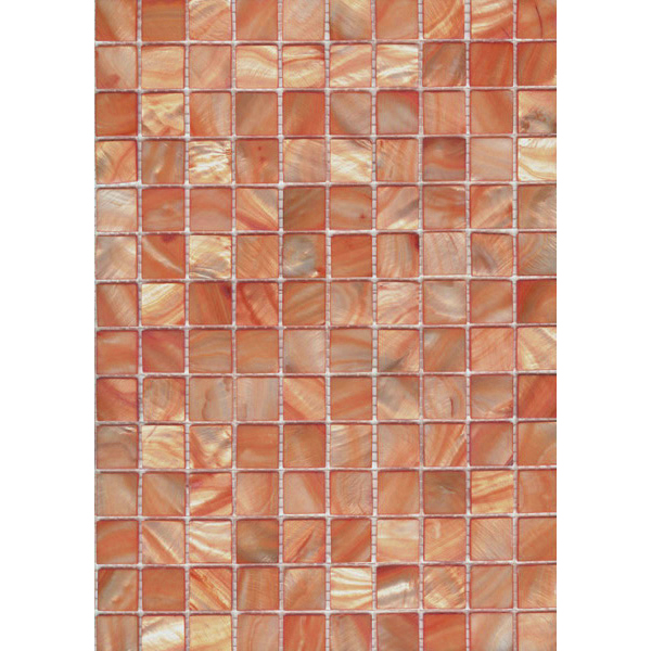 "Peach River Shell Mosaic Sheet, 20mm-3/4"", 1 tile"