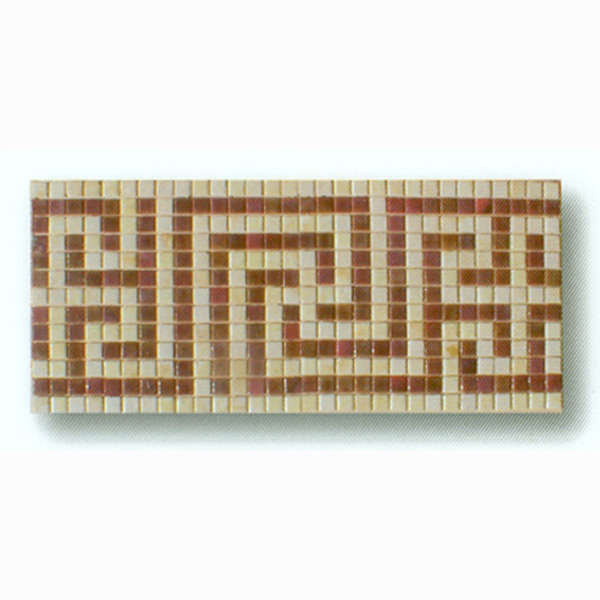 "Pompei Glass Mosaic Waterline or Border 10.5"" High, 1 Lineal Foot"