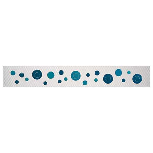 "AIM Step Markers Bubbles Aqua Ceramic Swimming Pool Mosaic Mural 3"" x 24"", 1 set"