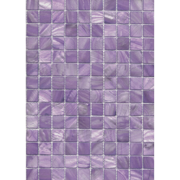 "Purple River Shell Mosaic Sheet, 20mm-3/4"", 1 tile"