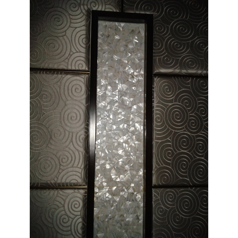 Hotel Spa Wall Seamless White River Seashell Insert Panel