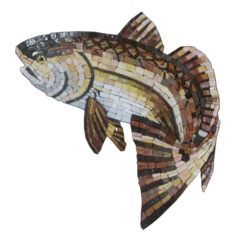 Redfish Glass Mosaic Pool Murals