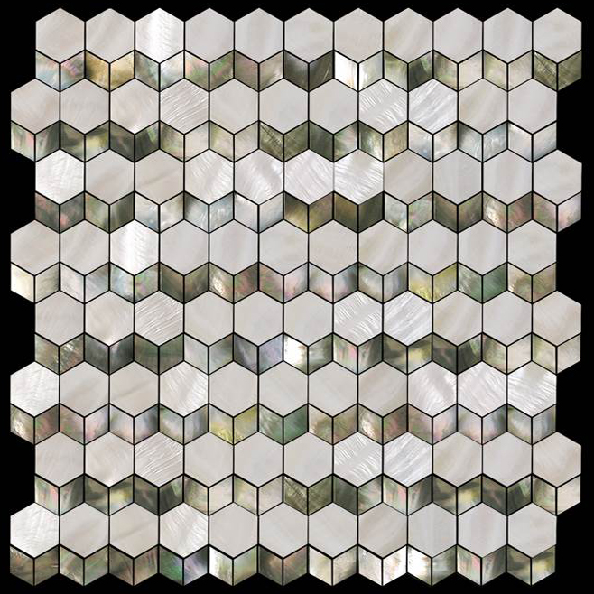 Ripples Seaside Shell Mosaic Sheet, 1 tile