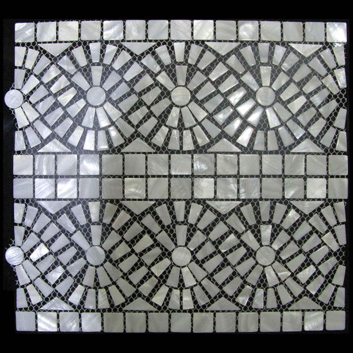Riptide Seaside Shell Mosaic Sheet, 1 tile