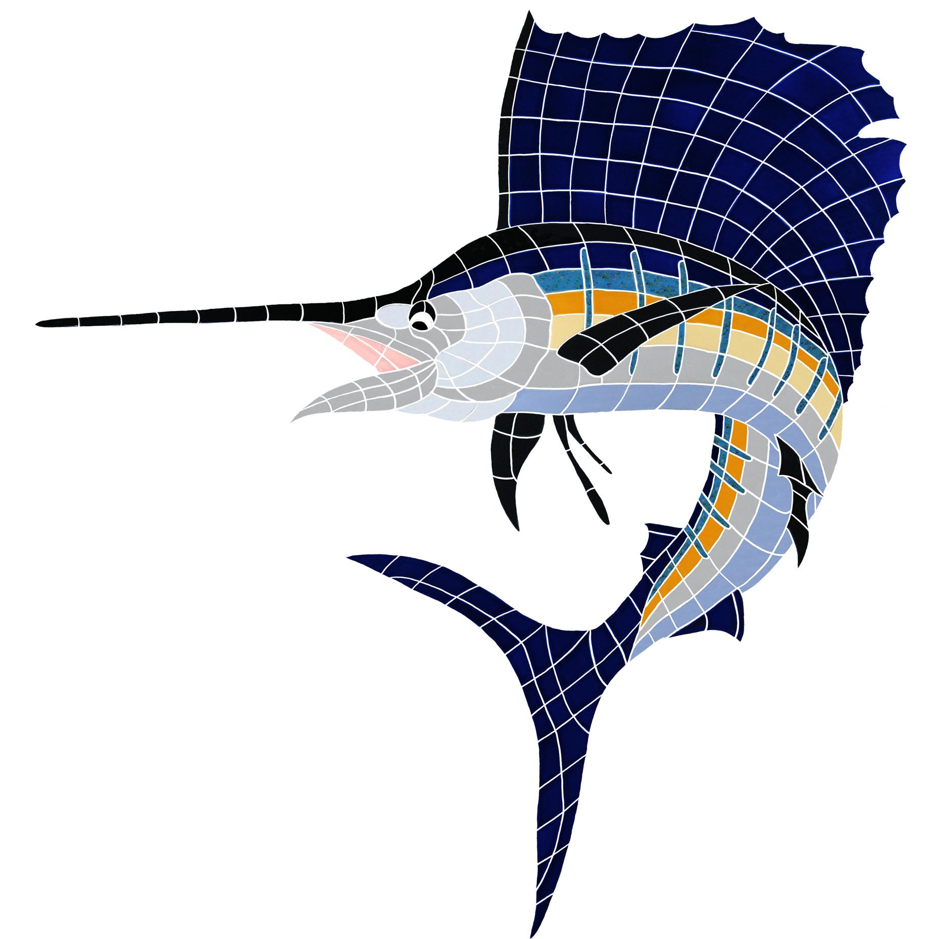 Agape tile bisazza custom pools murals gem tile shell tile trophy sailfish ceramic mosaic swimming pool mural 53 dailygadgetfo Images