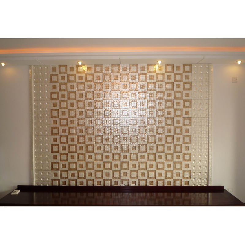 Shoni Capiz Shell Tile Office Wall