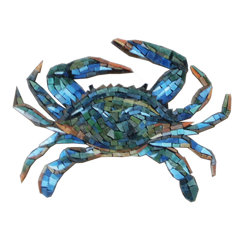 Crab Glass Mosaic Pool Murals