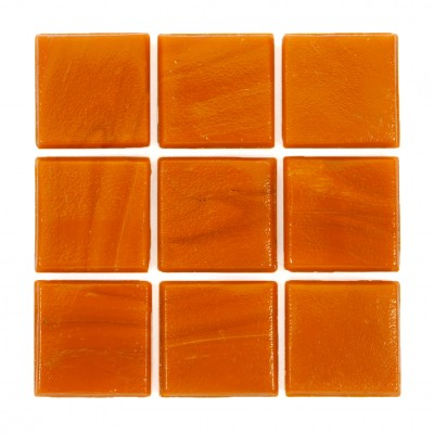 "Tangerine Kolorines Solar Glass Mosaic Tile, 3/4"" x 3/4"" - 20mm, 1 sheet"