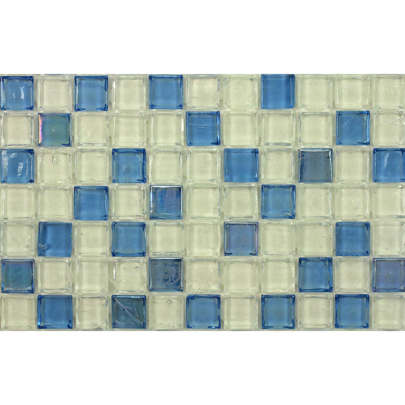 Tanzanite 1704 Jewel Molten Glass Blend Villi Glass Mosaic Tile, 1 sheet