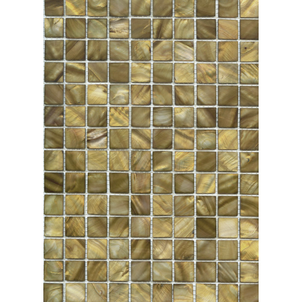 "Taupe River Shell Mosaic Sheet, 20mm-3/4"", 1 tile"