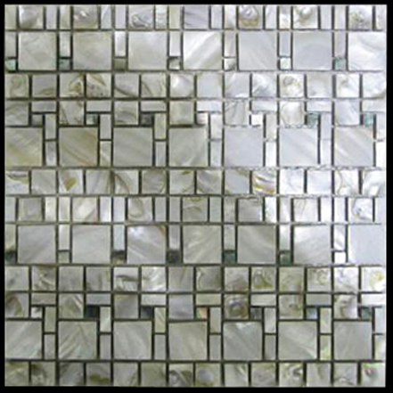 The Strand II Seaside Shell Mosaic Sheet, 1 tile