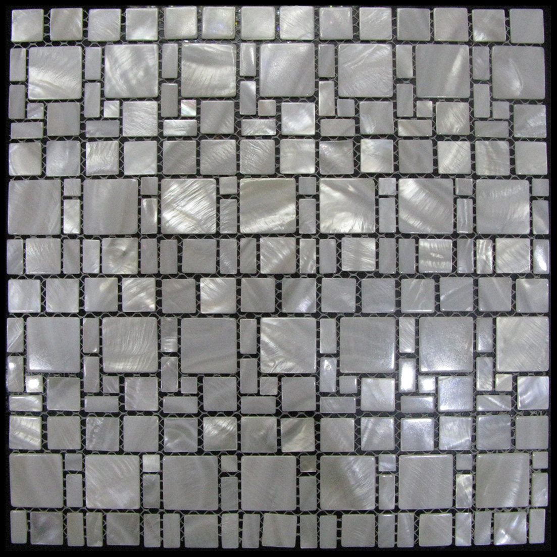 The Strand I Seaside Shell Mosaic Sheet, 1 tile