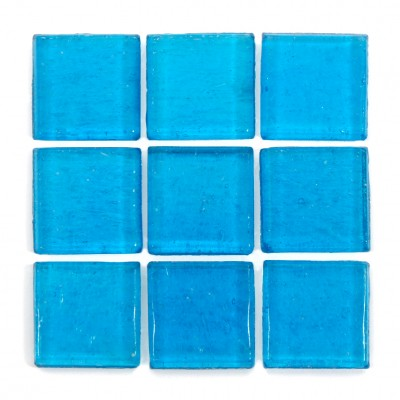 "Tulum Kolorines Kuarzo Glass Mosaic Tile, 3/4"" x 3/4"" - 20mm, 1 sheet"