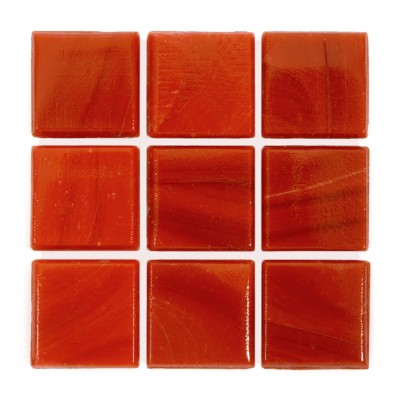 "Vermillion Kolorines Solar Glass Mosaic Tile, 3/4"" x 3/4"" - 20mm, 1 sheet"