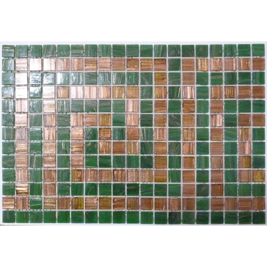 "Versace 2 Glass Mosaic Waterline or Border 11.125"" High, 1 Lineal Foot"