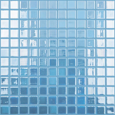 "Fire Glass 1 Dark Blue #106 Vidrepur Glow in the Dark FOTOLUMI Glass Mosaic Tile, 25mm - 1"", 1 sheet"