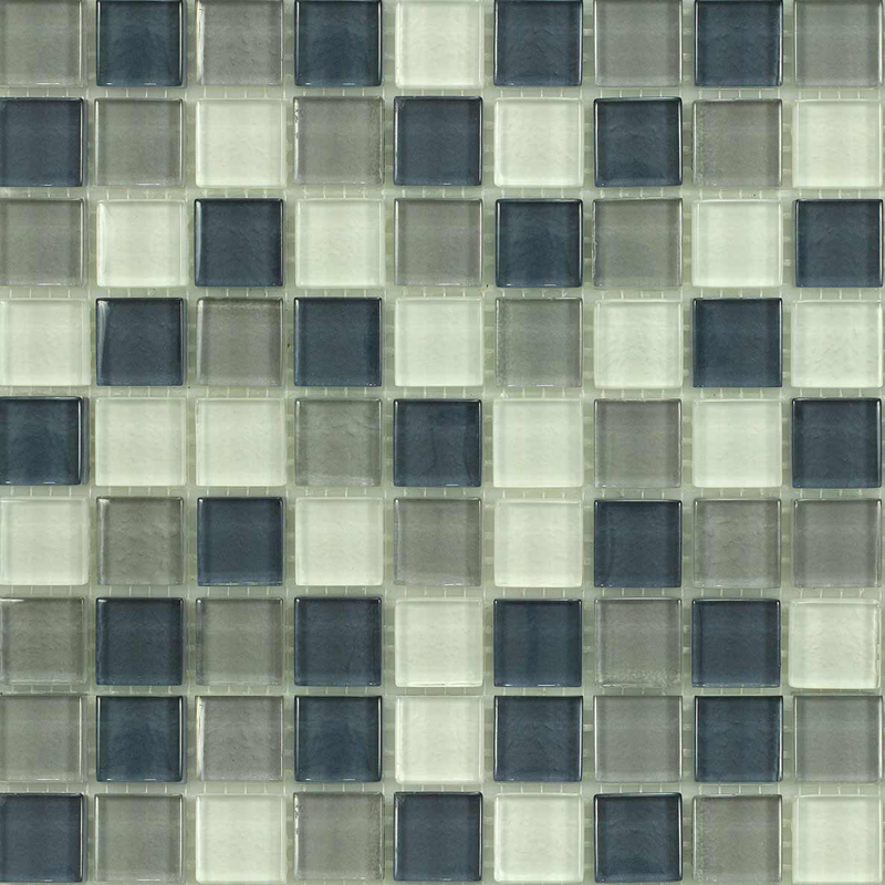 Mohave Gloss Blend Villi Glass Mosaic Tile, 1 sheet