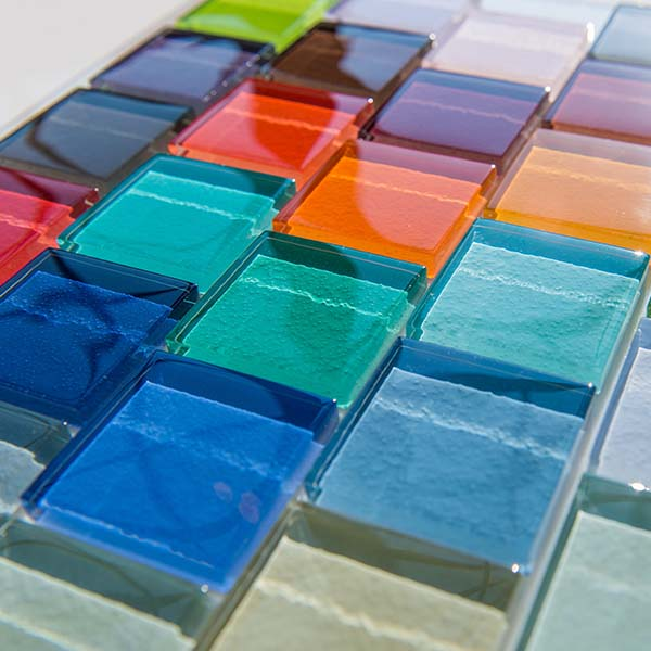Villi Glass Unicolor Mosaic Tiles