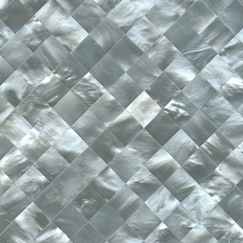 Hammershell Grey Seashell Tile