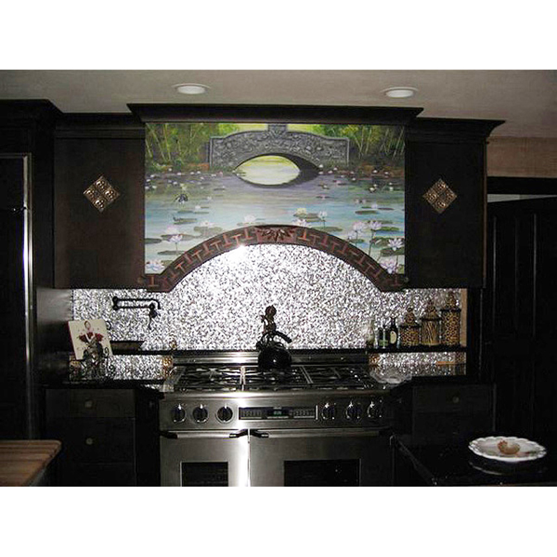 Mother of Pearl Seamless Kitchen Backsplash
