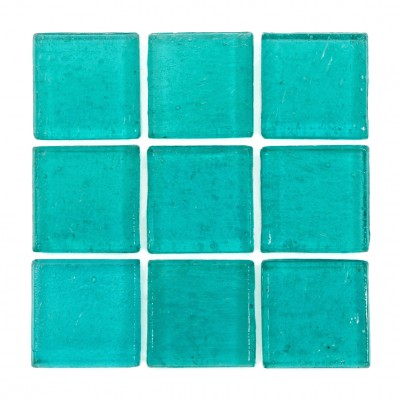 "Xelha Kolorines Kuarzo Glass Mosaic Tile, 3/4"" x 3/4"" - 20mm, 1 sheet"