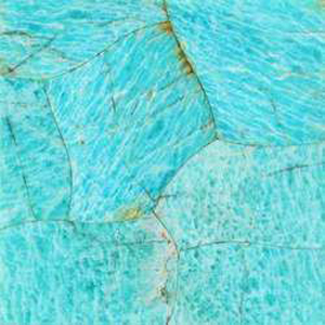 Amazonite Semi Precious Gemstone Overlay, per Sq. Ft.