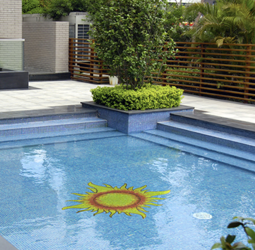 Sun Glass Mosaic Pool Murals