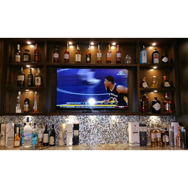 Black Mother of Pearl Bar Seamless Seashell Mosaic Backsplash 2