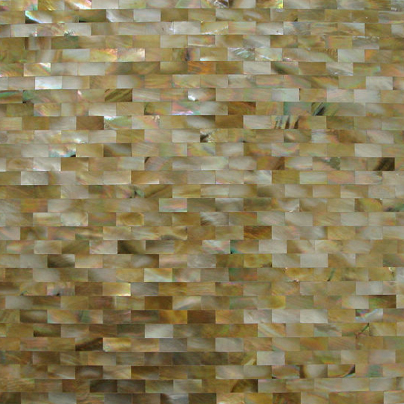 "Brown Mother of Pearl Brick Seamless Shell Mosaic Tile 11.8x11.8"", 1 tile"