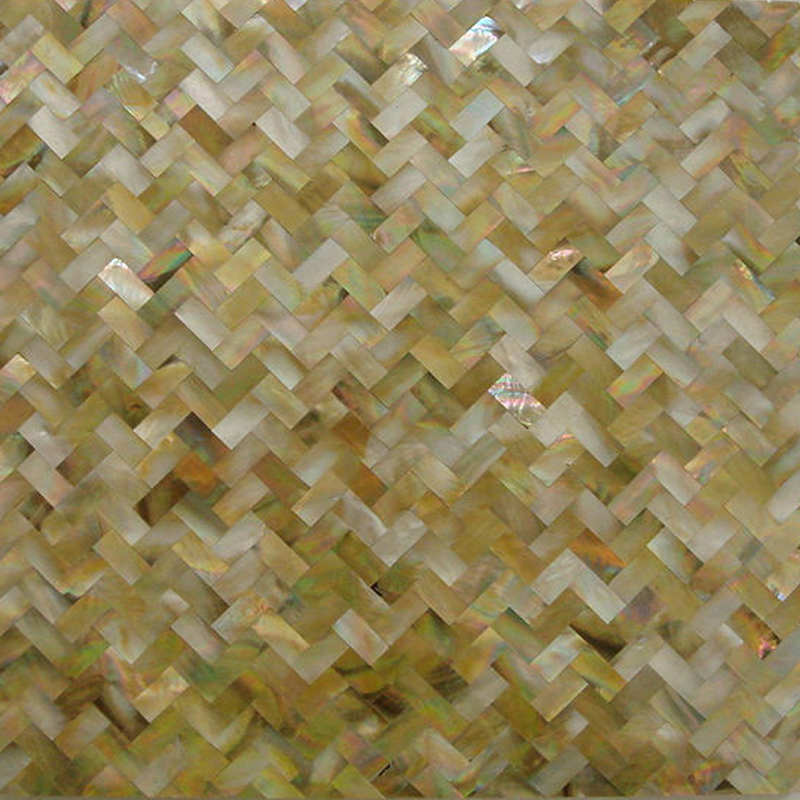 "Brown Mother of Pearl Weave Seamless Shell Mosaic Tile 11.8x11.8"", 1 tile"