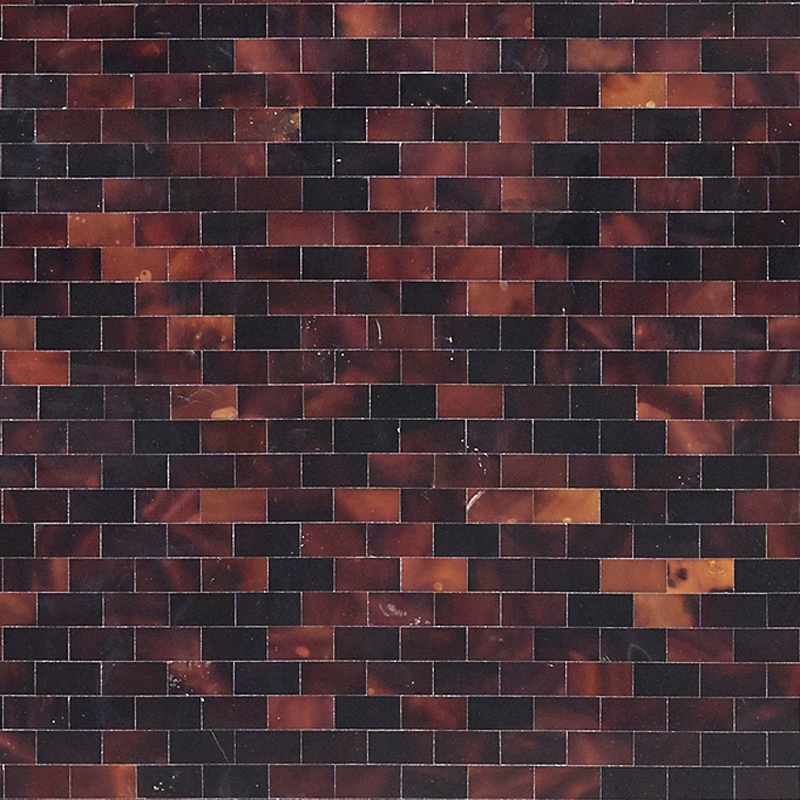 "Brown Tab Pen Shell Brick Seamless Shell Mosaic Tile 11.8x11.8"", 1 tile"