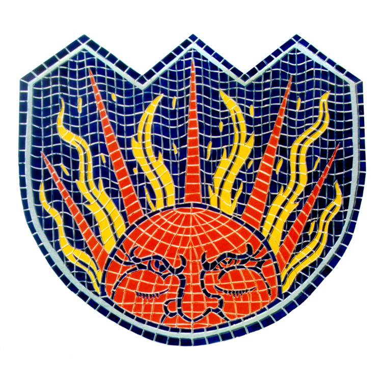 Celestial Shield, Custom Ceramic Mosaic