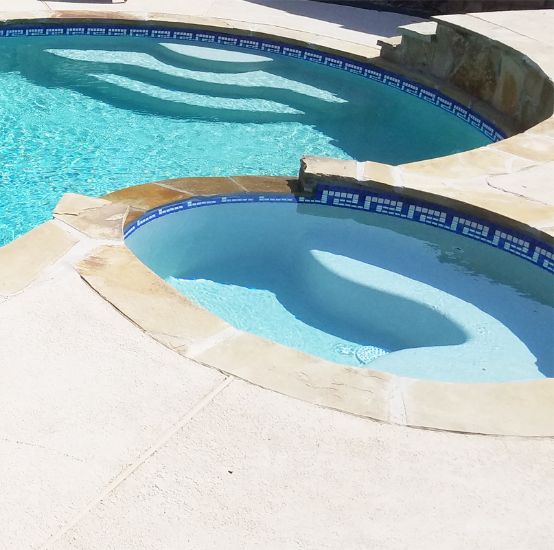 Glass Mosaic Pool Waterlines