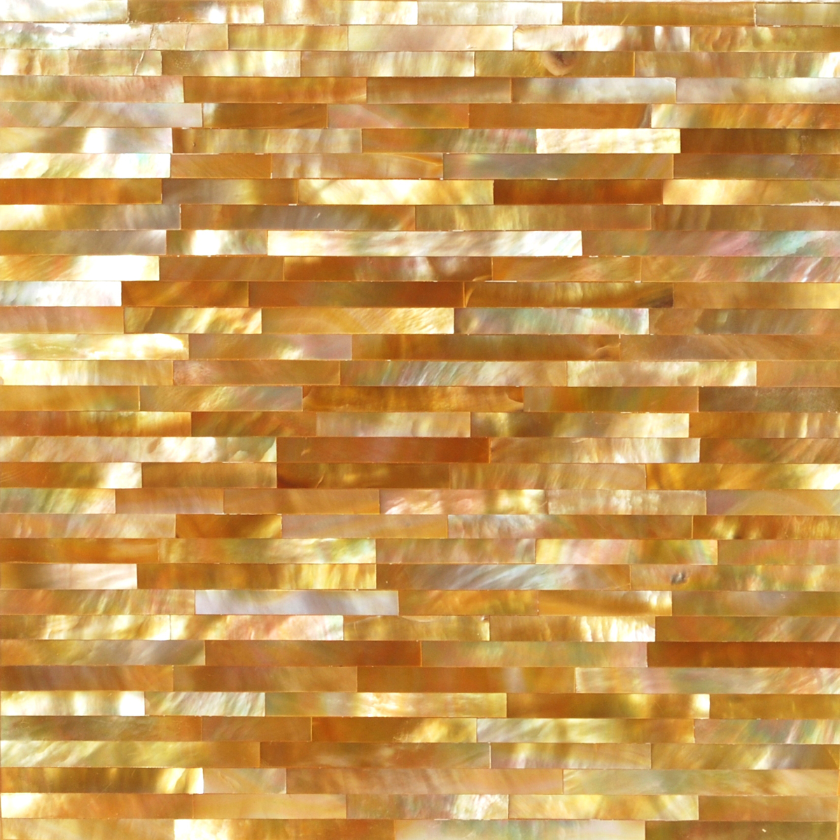 Gold Mother of Pearl Thin Brick Seashell, 1 square foot