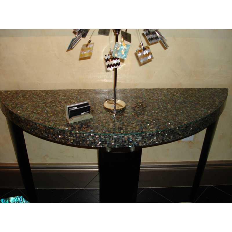 Paua Shell Custom Seamless Tabletop, IDC Florida